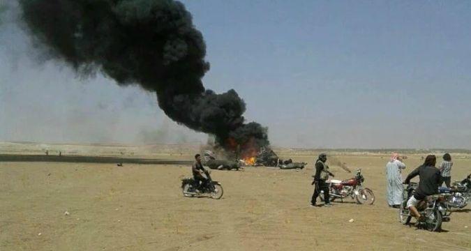 IŞİD duyurdu: Suriye'de Rus helikopteri düştü