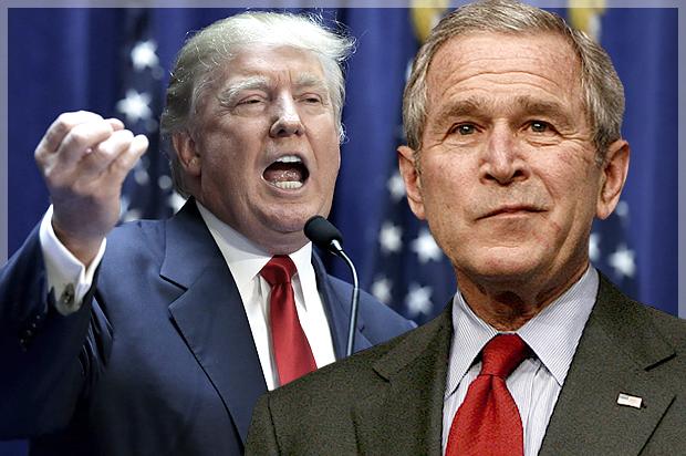 Bush isim vermeden Trump'a yüklendi: Dar kafalılık oldukça revaçta!