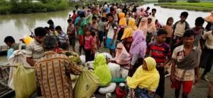 Bangladeş'in zorla 'Ölüm Adası'na yerleştirdiği Arakanlılardan protesto