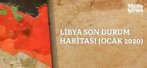 Libya son durum haritası (Ocak 2020)