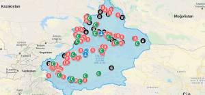Doğu Türkistan'daki toplama kamplarının interaktif haritası