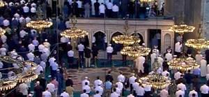 Ayasofya'da Hristiyanların kutsal kabul ettiği alan boş bırakıldı