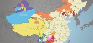 Çin etnik yapı haritası