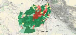 Afganistan interaktif son durum haritası