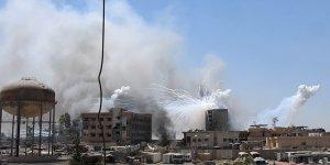 ABD Musul'da sivillerin üzerine fosfor yağdırdı
