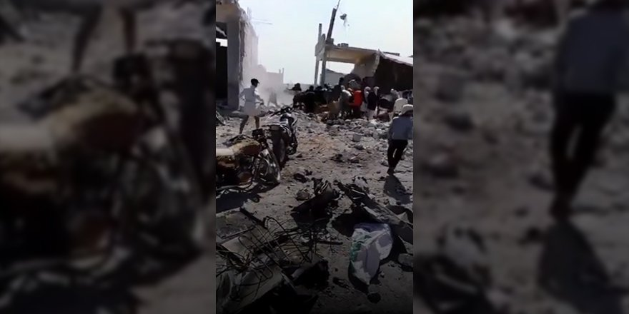 Rus bombardımanı sonrası İdlib'in güneyinde yaşanan can pazarı