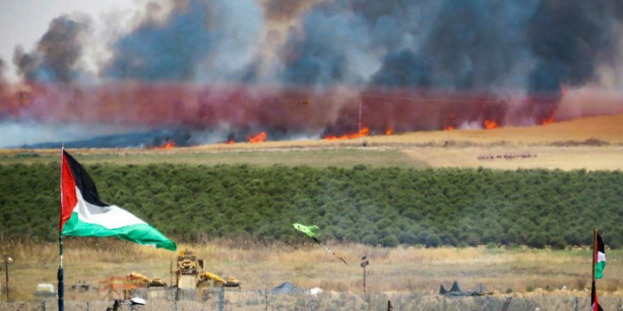 Gazze'den atılan balonlar İsrail'de geniş çaplı yangınlara yol açtı