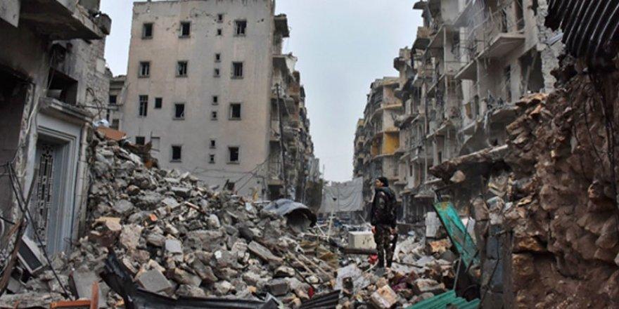 Drone görüntüleri Suriye'deki yıkımı gözler önüne seriyor