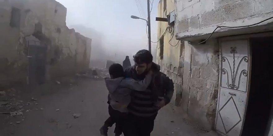 Doğu Guta'ya yapılan hava saldırısı sivilleri vurdu