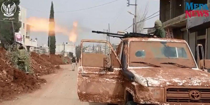 Afrin'in kuzeyindeki Şiran beldesinde PKK ile ÖSO güçleri arasındaki çatışmalar