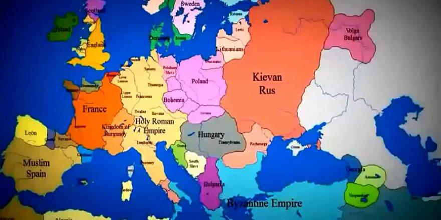 1140 - 2012 yılları arası değişen harita animasyonu