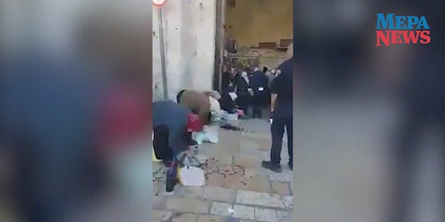 İsrail polisi Filistinli kadın satıcıların ürünlerini dağıttı