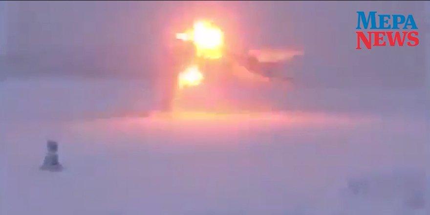 Tu-22M3 uçağının düşüş anının görüntüleri yayınlandı