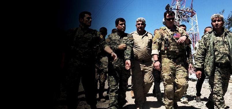 Amerikan askerleri, TSK'nın vurduğu YPG hedeflerini ziyaret etti
