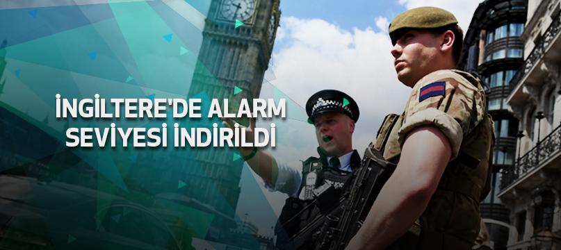 İngiltere'de alarm seviyesi indirildi