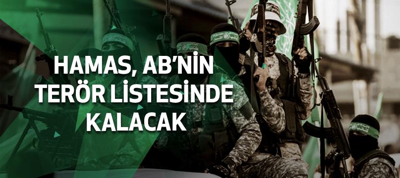 Hamas, AB'nin terör listesinde kalacak