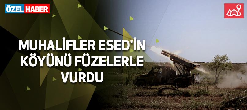 Muhalifler Esed'in köyünü füzelerle vurdu