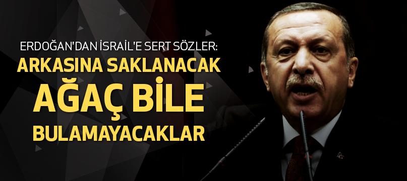 Erdoğan'dan İsrail'e sert sözler: Arkasına saklanacak ağaç bile bulamayacaklar