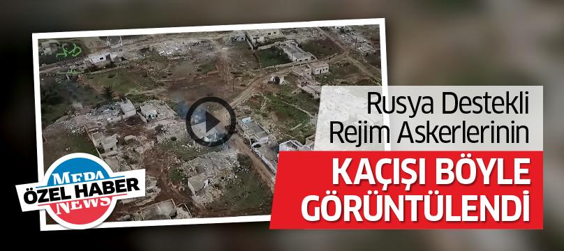 Rusya destekli rejim askerlerinin kaçışı böyle görüntülendi
