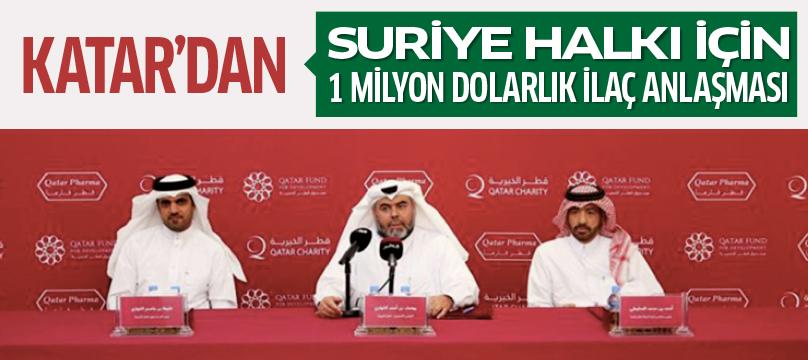 Katar'dan Suriye halkı için 1 milyon dolarlık ilaç anlaşması